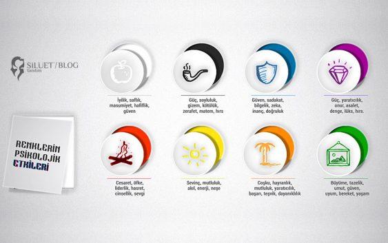 Renklerin Psikolojik Etkisi - Silüet Tanıtım Web, Grafik ve Prodüksiyon Ajansı