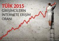 TÜİK 2015: Girişimcilerin internete erişim oranı