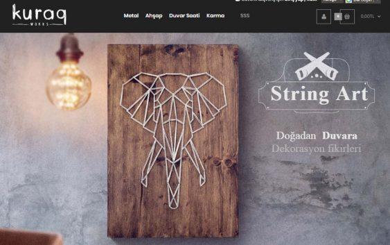 Kuraq dekorasyon ürünleri e ticaret sitesi tamamlandı! Silüet Tanıtım Web, Grafik ve Prodüksiyon Ajansı